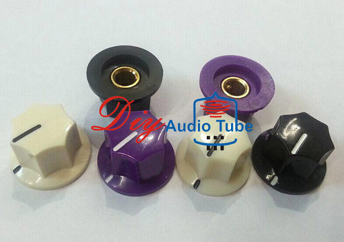 Brass Insert Stereo Knobs For Volume , Electric Guitar Tone Knob Shaft Hole 6.4mm