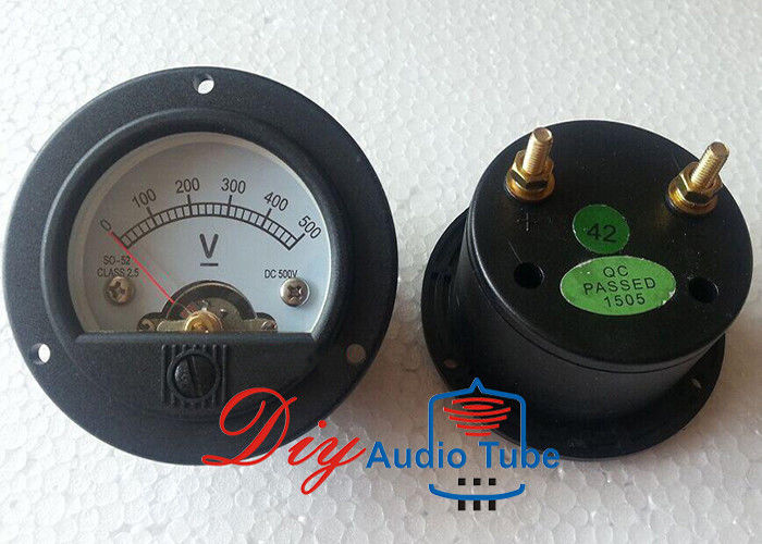 52mm DC 500V Tube AMP Parts 65mm Overall Diameter Moving Coil Panel Meter