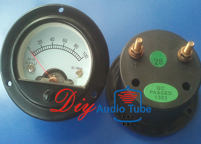 DC 100MA Tube AMP Parts Round Moving Coil Panel Meter For Vintage Tube Amp