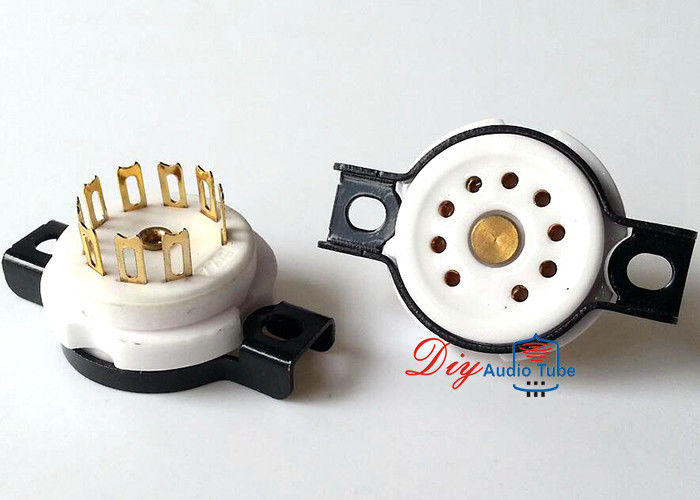 EIZZ 9pin gold plated Ceramic tube socket for 12AT7 ECC82 12AX7 EL84 amplifier DIY